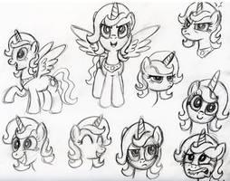 AotA sketch:  Celestia expressions