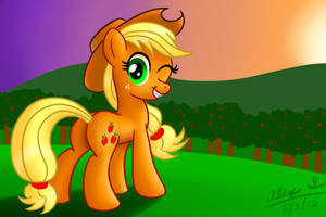 Applejack at Sunset by AleximusPrime