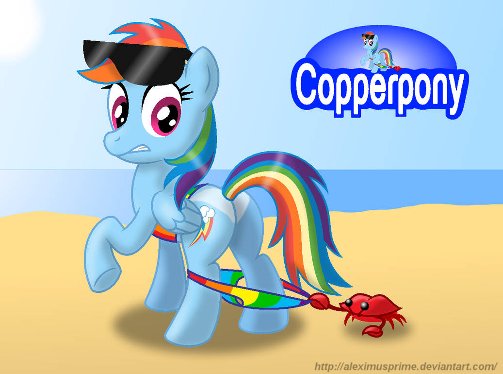 Coppertone Rainbow Dash by AleximusPrime