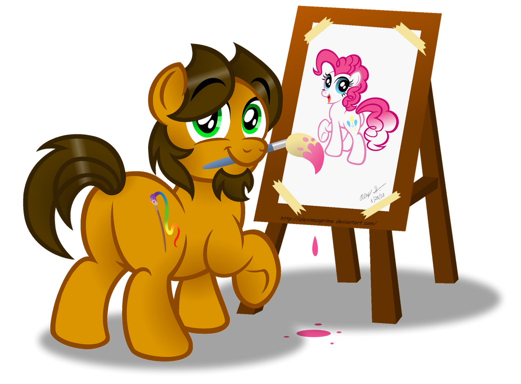 An Artist at Work by AleximusPrime