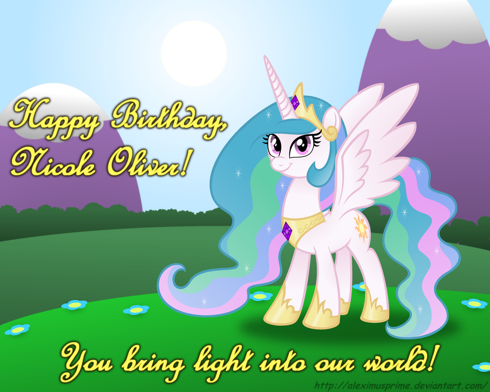 Happy Birthday to Nicole Oliver by AleximusPrime