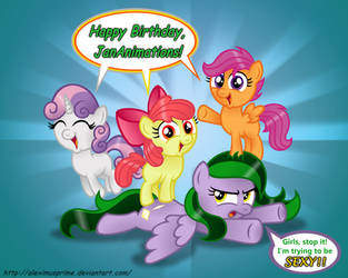 Happy Birthday to JanAnimations by AleximusPrime