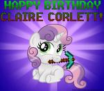 Happy Birthday to Claire Corlett