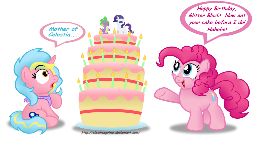 Commission:  Happy Birthday to EquestrianStrumpet by AleximusPrime