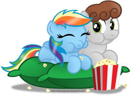 Commission:  Popcorn Time! by AleximusPrime