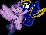 Commission:  ZephyrSparkle kiss