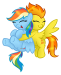 Commission:  The Honorary Wonderbolts Hug