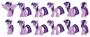 Twilight Sparkle vector sprites