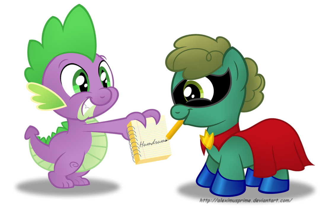 Commission:  Spike getting Humdrum's autograph by AleximusPrime