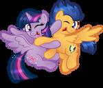 Commission:  Flashlight Ticklefight