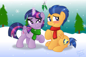 Twi and Flash under Mistletoe