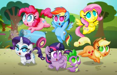 Chibi Ponies:  Mane Six by AleximusPrime