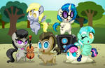 Chibi Ponies:  Background Ponies