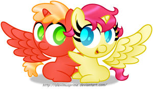Commission:  Alicorn Siblings