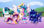 Chibi Ponies:  Royal Ponies