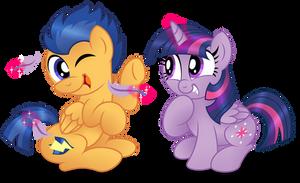 Commission:  You ticklish, Flashy?
