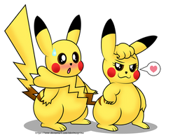 Pikachu Love by AleximusPrime
