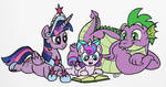 Reading with Flurry (colored)