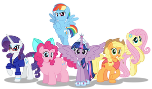 The Mane Six 10 years later by AleximusPrime