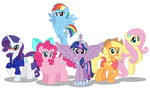The Mane Six 10 years later