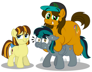 Photo with Gabe and Michelle ponified by AleximusPrime