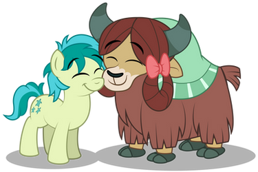 Sandbar and Yona nuzzling by AleximusPrime