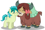 Sandbar and Yona nuzzling