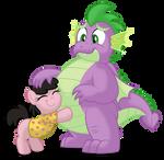 Commission: Maria hugging Spike
