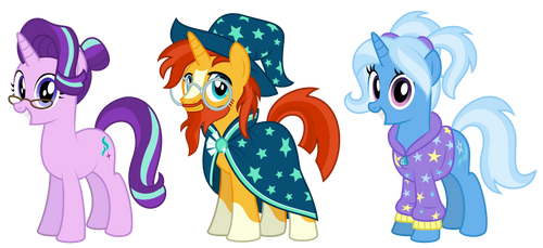 MLP:FHS - Starlight, Sunburst, and Trixie