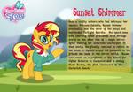 Sunset Shimmer character bio card