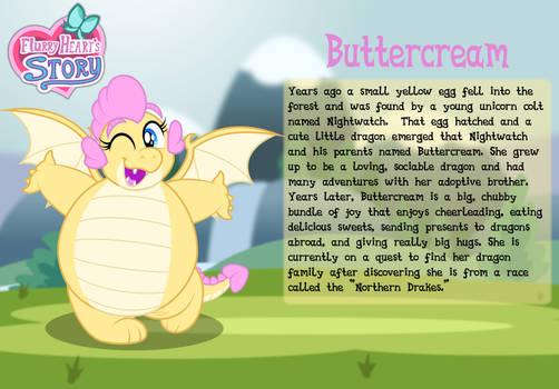 Buttercream character bio card