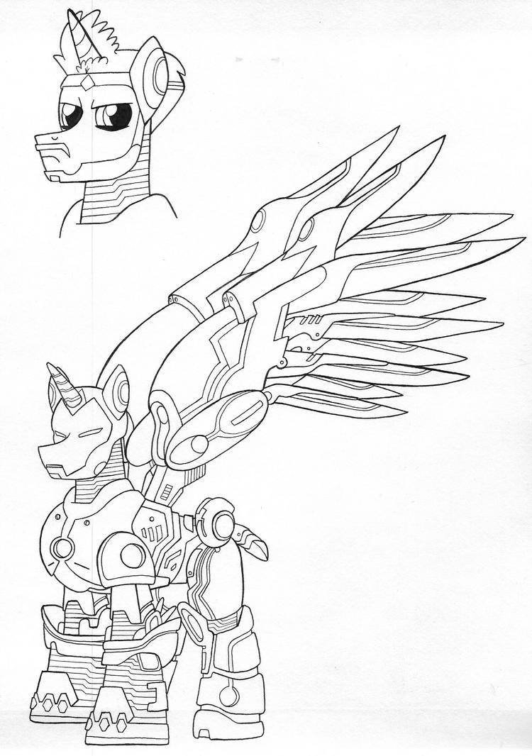 Endo-sym armor Iron Stallion by jmkplover