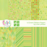 12 abstract green pattern digital papers