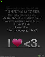 I heart typography by abhas1