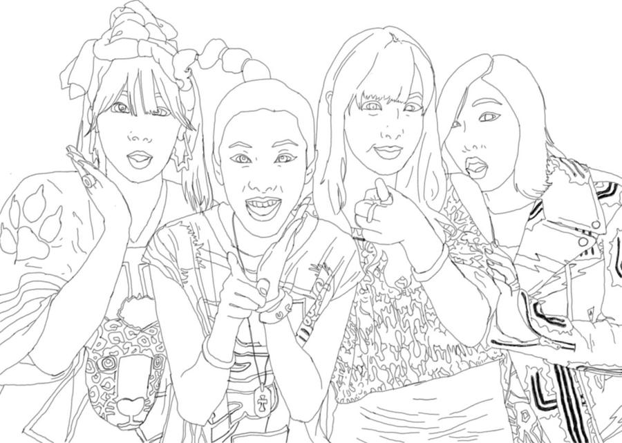 2ne1 coloring page by bgoodrum on DeviantArt