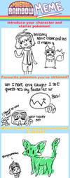 pokemon rainbow meme by Dawr
