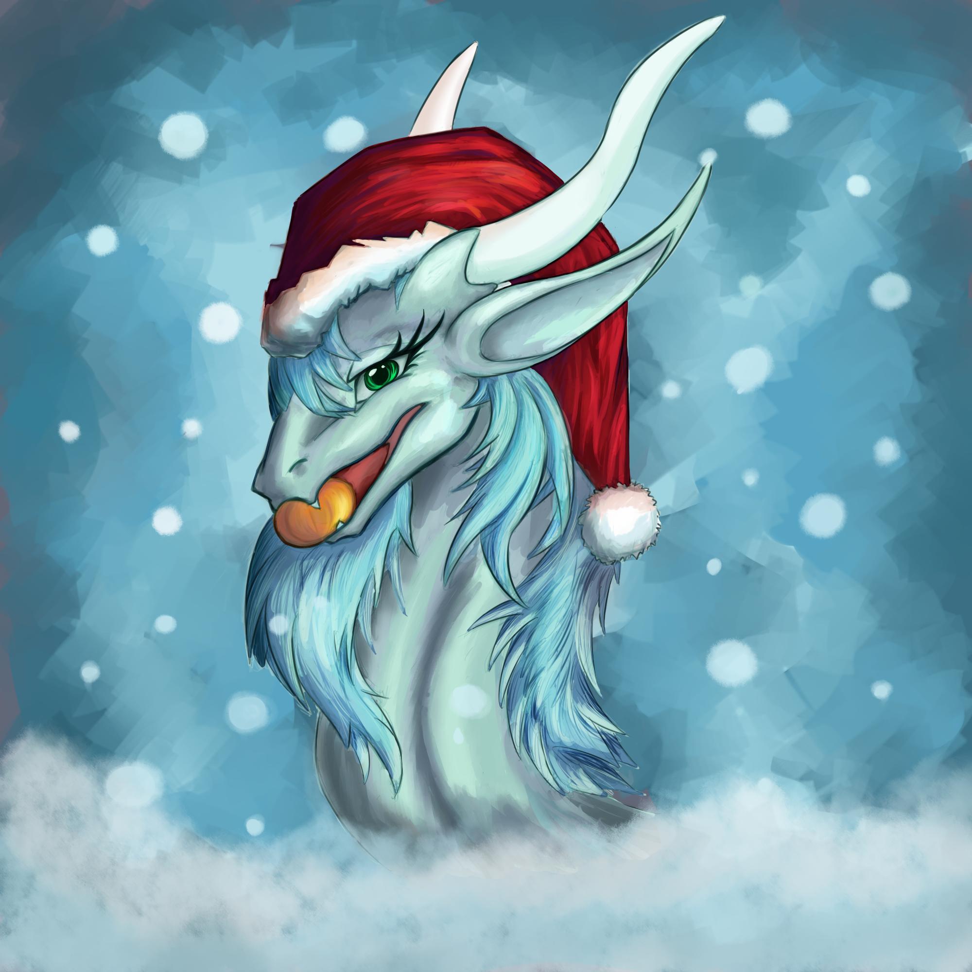 Christmas Dragon.Christmas Dragon By Oksara On Deviantart