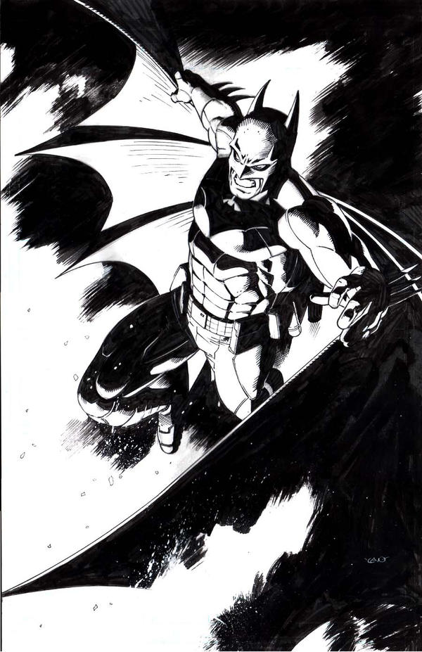 Batman In Black by thepunisherone