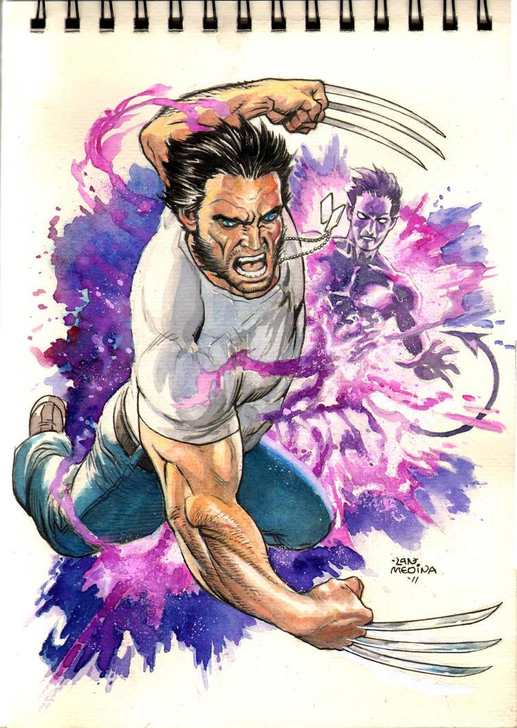 Logan with Knightcrawler by thepunisherone