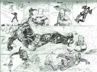 CA vs Venom by thepunisherone
