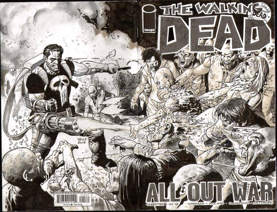 Castle vs the Walking Dead by thepunisherone