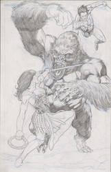 Tarzan Xena and Kong by thepunisherone