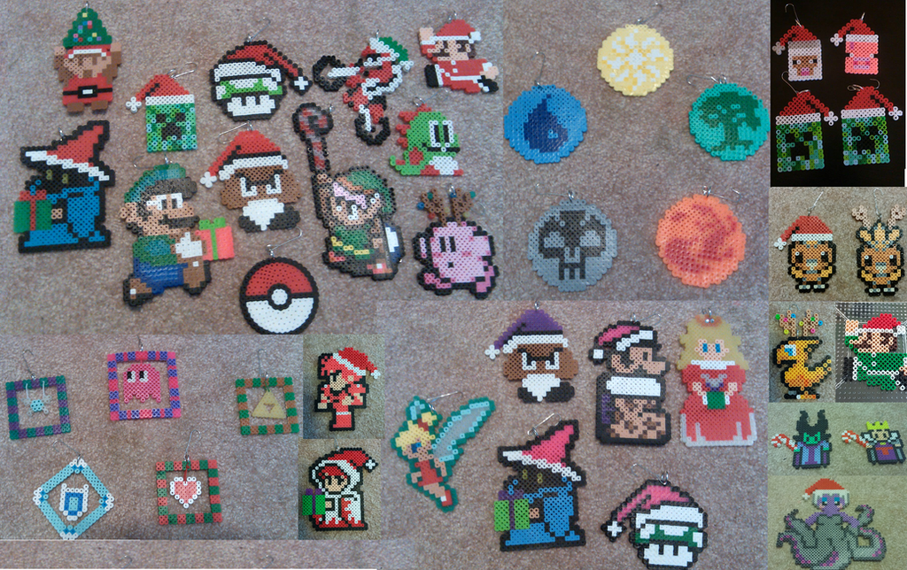 Video Game Christmas Ornaments! by Zeldalicious on DeviantArt