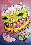 Tiki Brain Non Cents by sweetlygrotesque