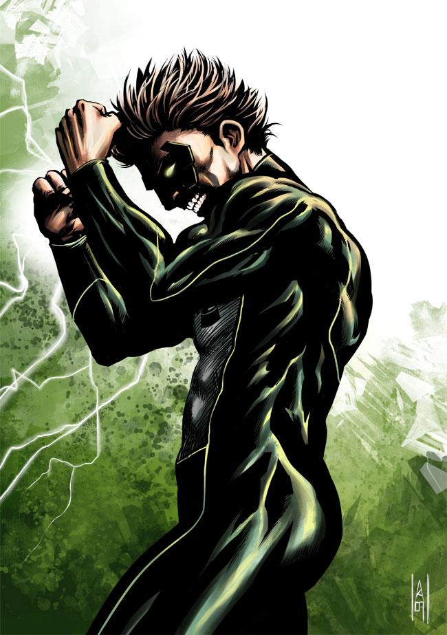 Green Lantern colored by Botonet