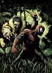 Spider vs Kraven - colored