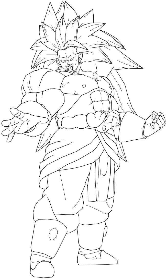 broly coloring pages - photo#24