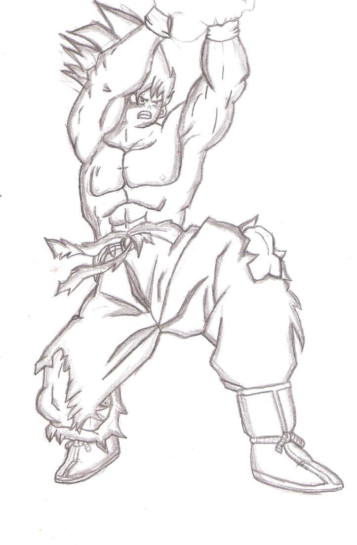 draw goku kamehameha by Gohaan95 on DeviantArt