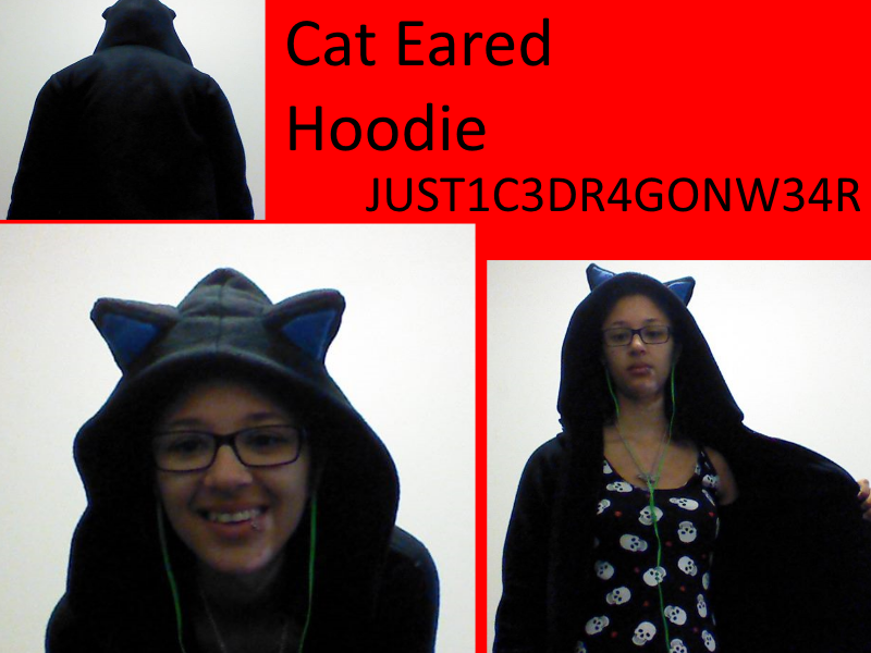 Cat Eared Hoodie by konics