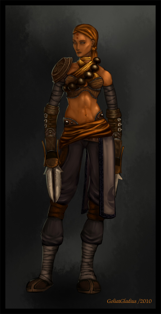 My version of Female Monk -D3- by GoliatGladius